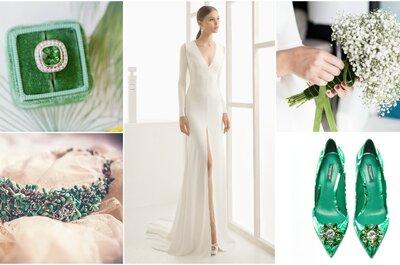 Look de la semana: novia con toques greenery