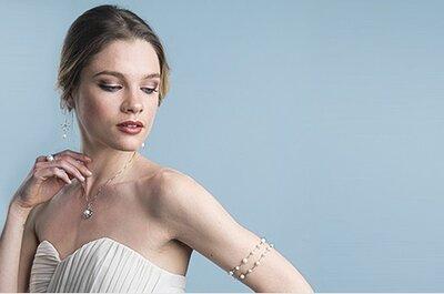 Un bijou en perle, l'indispensable pour un look de mariée romantique