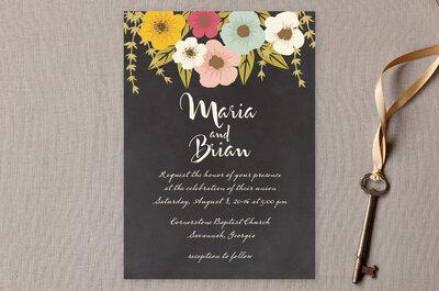 Lo mejor del color en tu boda: Inspírate en estas 5 invitaciones de boda llenas de estilo