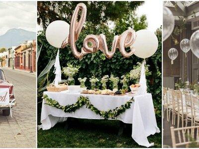 30 ideas para decorar tu boda con globos, ¡una tendencia llena de formas y color!