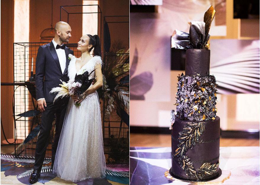 Роскошь в черном: свадьба Михаила и Элины