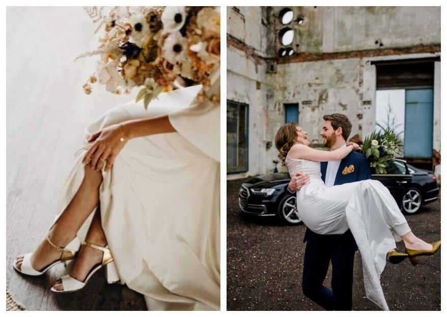 Comfortabele bruidsschoenen: zo loop je de hele trouwdag comfortabel op hakken!
