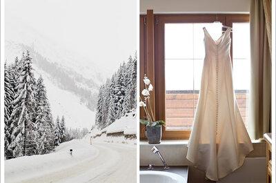 Heiraten zur Winterzeit: Inspirationen für eine romantische Hochzeit im Schnee!