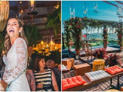 Casamento tropical chique de Marcela & João Paulo: fresh, colorido e muito animado