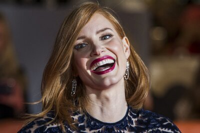 Jessica Chastain smiles on the red carpet for the film
