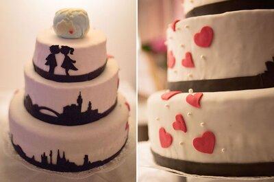 Decorazioni per matrimonio in bianco e nero