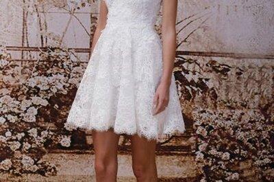 Vestidos de novia cortos de las tendencias 2014