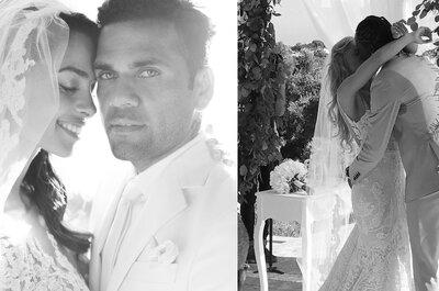 Dani Alves casa-se em segredo com Joana Sanz no mesmo dia de Éder & Sanna Ladera