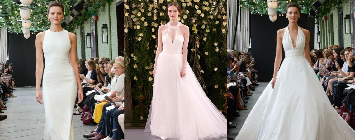 Свадебные платья халтер: неистовая чувственность