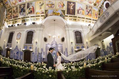 Casamento de conto de fadas de Layra & Rodrigo: decoração luxuosa e noiva como uma verdadeira princesa