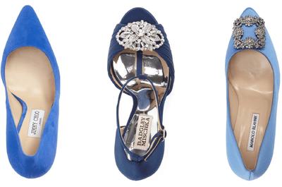 Scarpe da sposa blu: un colore frizzante per il tuo outfit nuziale