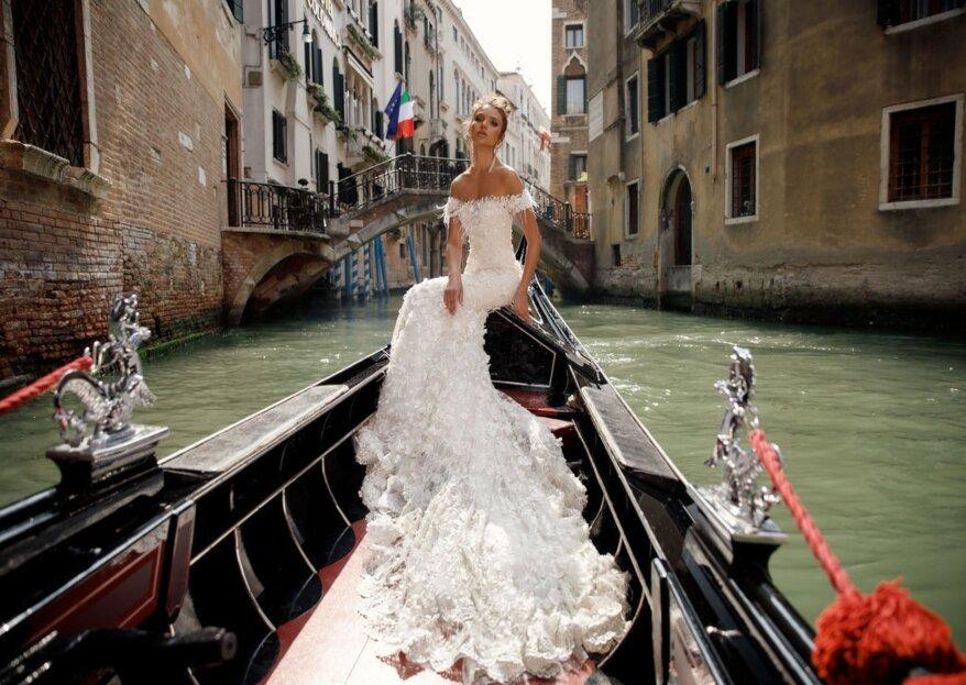 L'eleganza che contraddistingue gli abiti da sposa dell'atelier The Woman in White