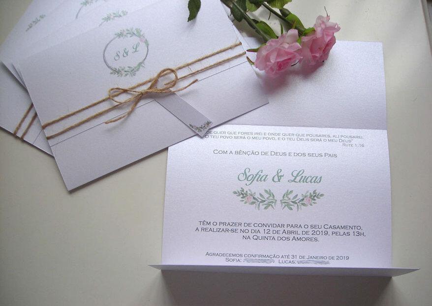 """Convites personalizados com o cunho especial de """"tudo o que quiseres®"""""""