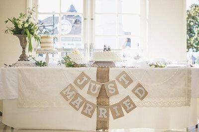 'Tips' para tener las mesas de boda más bonitas