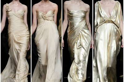 Quem se atreve? Vestidos de noiva dourados da Rosa Clará