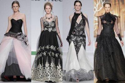 Los vestidos de novia con toques negros siguen siendo tendencia en 2014