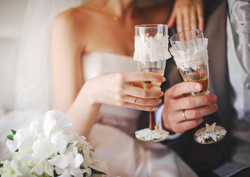 Cuáles son las bebidas que estarán presentes en todas las etapas del día de tu matrimonio