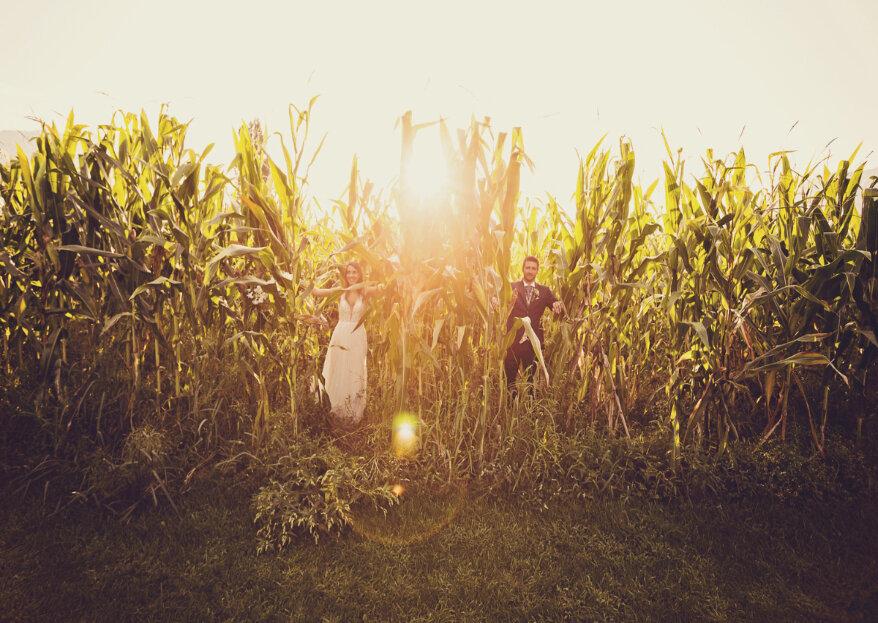 Tania und Francescos rustikale Hochzeit inmitten der Natur