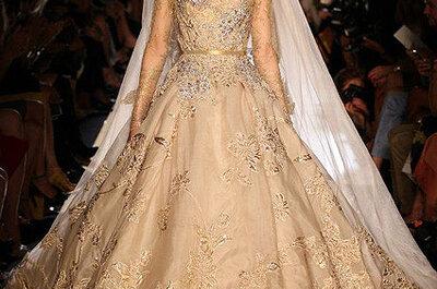 Vestido de noiva dourado: a minha escolha de hoje