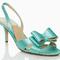 Голубые босоножки для невесты Kate Spade