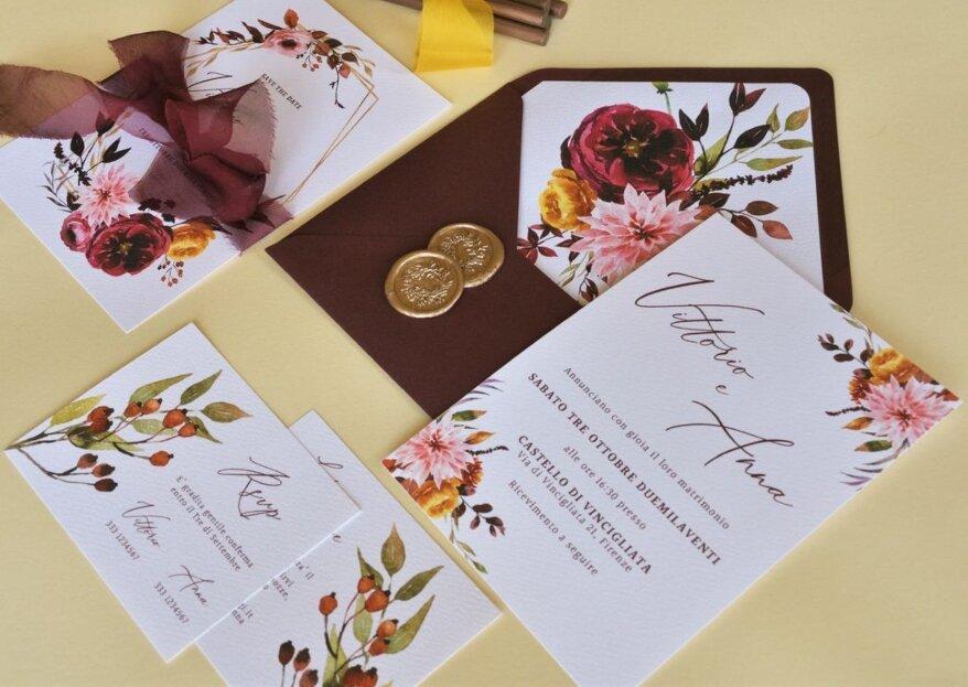 Un laboratorio grafico per la creazione della vostra wedding stationery: Tuscan Lab