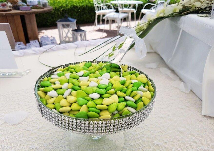 Affidatevi all'esperienza centenaria di Crispo Confetti,per un ricordo delle vostre nozze da assaporare con dolcezza