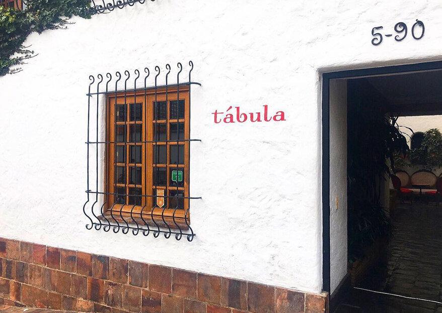 Tábula acá, Tábula allá: una experiencia exquisita para el banquete de tu boda