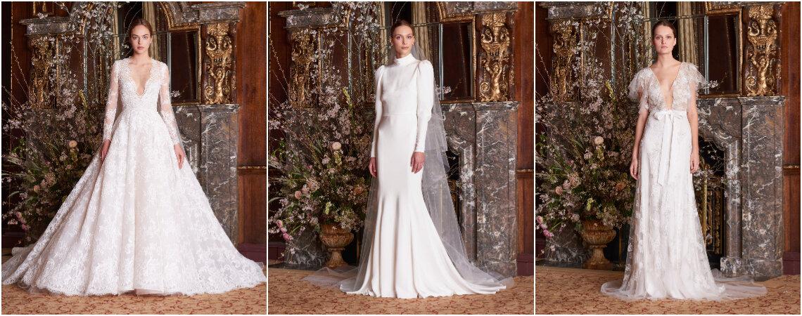 Vestidos de novia Monique Lhuillier 2019. ¡Diseños de ensueño para novias chic!