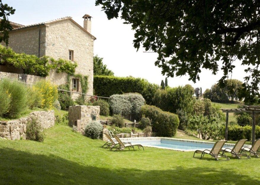 Villa Podernovo: la location per le nozze in stile country-chic nel cuore della Toscana