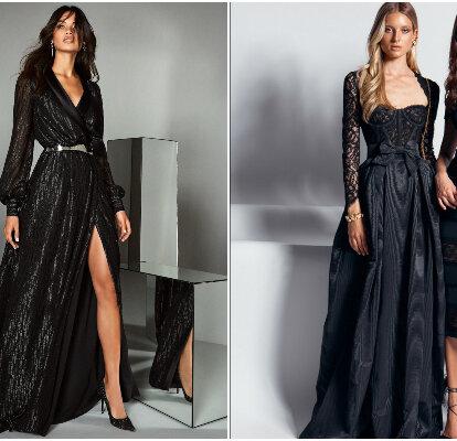 100 Vestidos De Fiesta Negros Elegantes Modernos Y