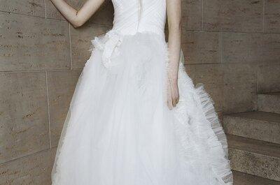 Sueños al natural en los vestidos de novia primavera 2015 de Vera Wang