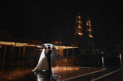 Danza bajo la lluvia: La boda de Lorena y Emilio