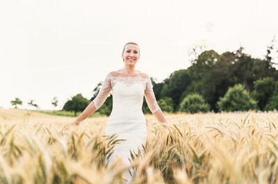 Ein Real Wedding-Traum: Rustikal-schicke Open-Air-Hochzeit in Peach