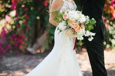Enamórate de esta Real Wedding en un mágico jardín y colores envolventes... ¡Wow!