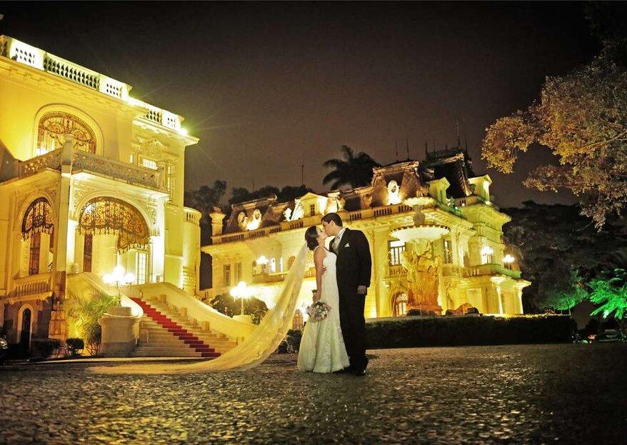Casando em um palácio: o seu sonho pode se tornar realidade no Palácio dos Cedros!