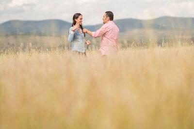 Fotos pre boda en el campo y el anillo de compromiso más lindo ¡de la historia!