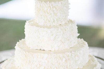 35 pasteles de boda en color blanco con ornamentos hermosos: Riquísima tradición en tu gran día