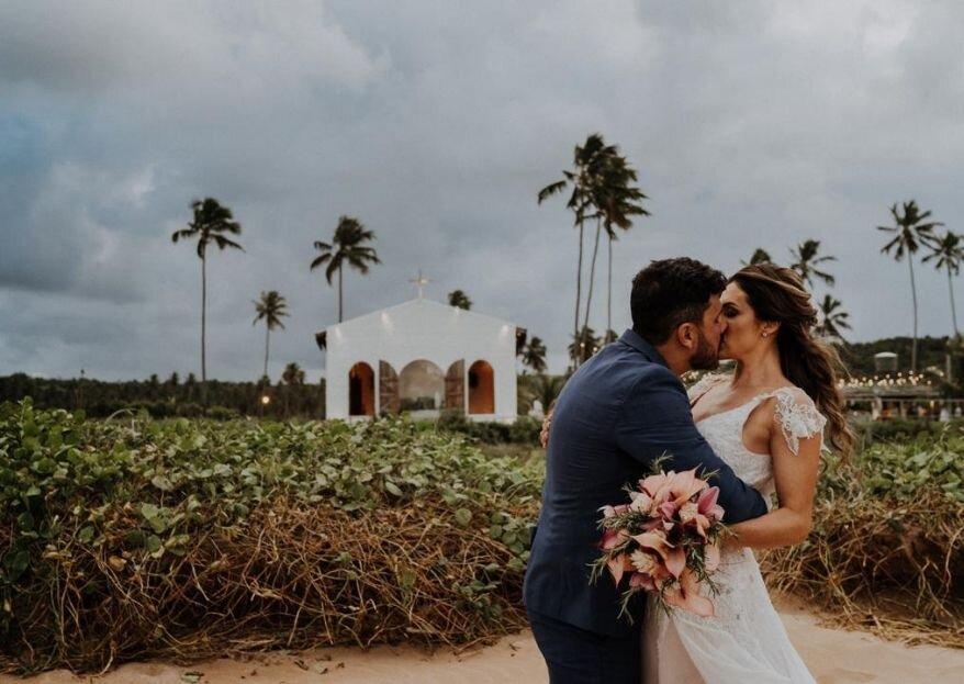 Janine & Cahê: encontro do destino celebrado com destination wedding dos sonhos em Alagoas.