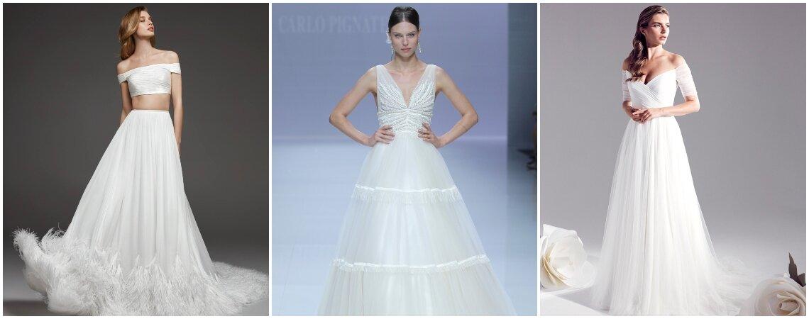 Свадебные платья А-силуэта: прекрасная классика!