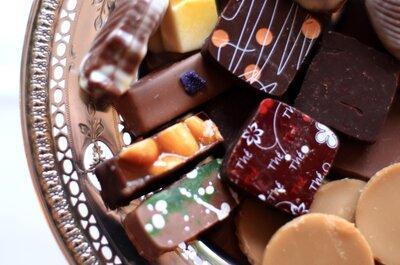 Dulces decorativos para la mesa de postres