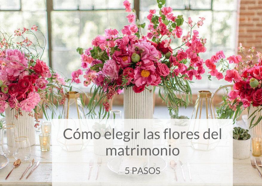 Cómo elegir las flores del matrimonio: ¡5 pasos para ambientar tu boda!