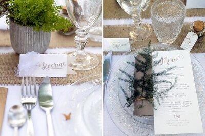 Presenta el menú de matrimonio a tus invitados. ¡10 ideas creativas y originales!
