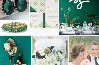Una boda esmeralda: El color de lujo para decorar una fecha tan especial