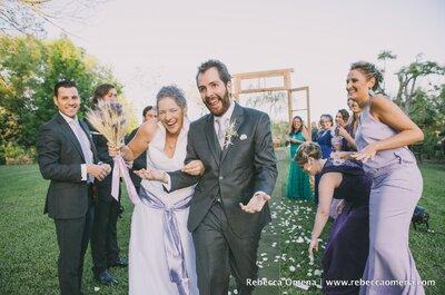 Casamento no campo de Mari & Nei: rústico, personalizado em TUDO e com cheirinho de lavanda...