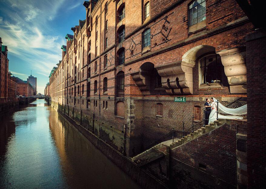 Die 15 talentiertesten Hochzeitsfotografen aus Hamburg – Feierlich in den Hafen der Liebe einlaufen!