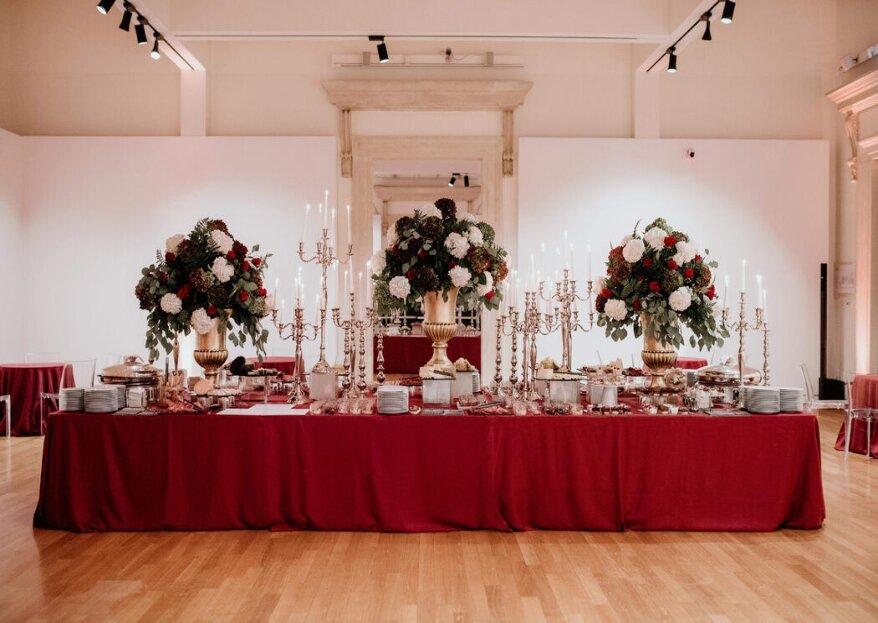New Team Banqueting è la scelta ideale per un banchetto dall'estetica ricercata e dai sapori inebrianti
