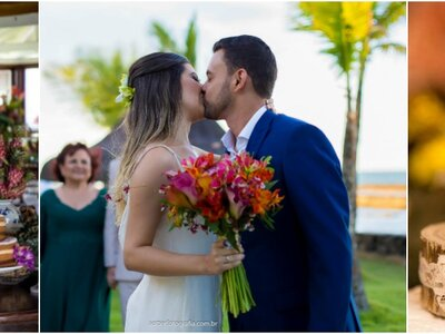 O destination wedding tropical de Mariana & Matheus: o