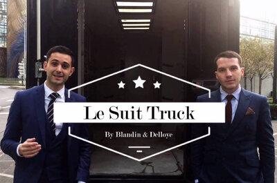 Costumes de mariés Blandin & Delloye : Embarquez dans le Suit Truck !