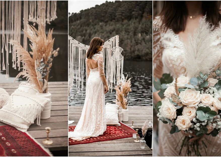 Eine Hochzeit reich an Ideen – ein Styled Shooting im Vintage-Style mit Boho-Elementen