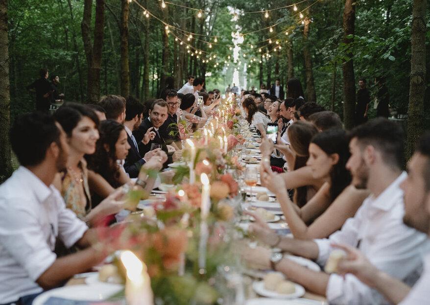 Una mise en place che lasci senza parola i vostri invitati, solo grazie all'aiuto di una wedding planner